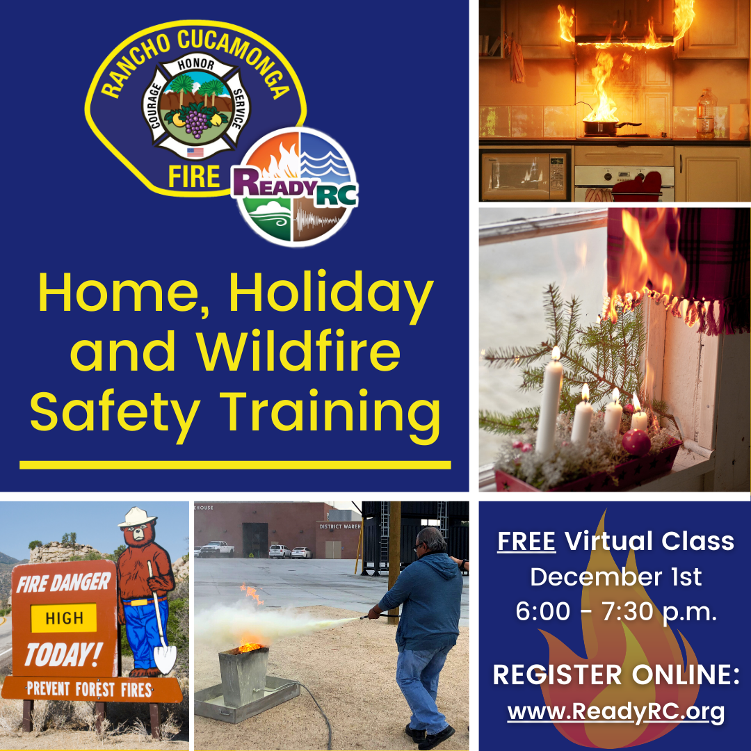 Home Holiday Wildfire Safety Flyer