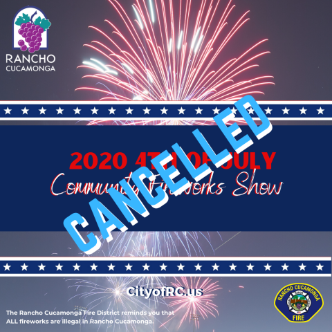4th of July 2020 Cancellation