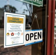 County COVId-19 Compliance Program Store Front Image