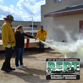 BERT logo with Fire Extinguisher Training