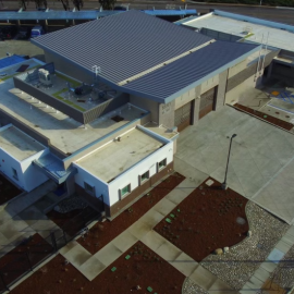 Aerial image of public safety facility